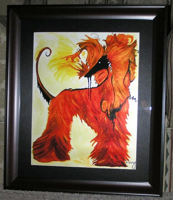 Afghan Oil Print Reproduction Frames