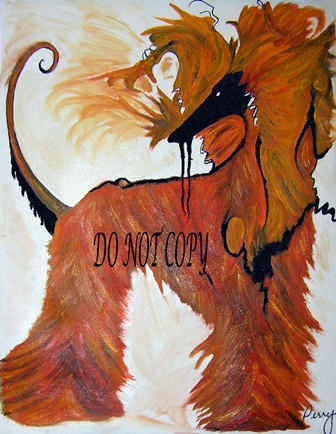 Afghan Hound Oil by Perry